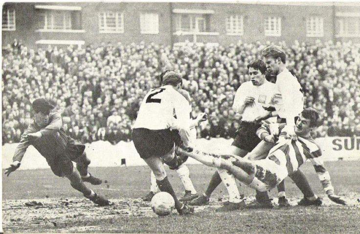 @RodneyMarsh10 in the Loftus Road mud. January 1968 against Preston North End. #qpr #pne