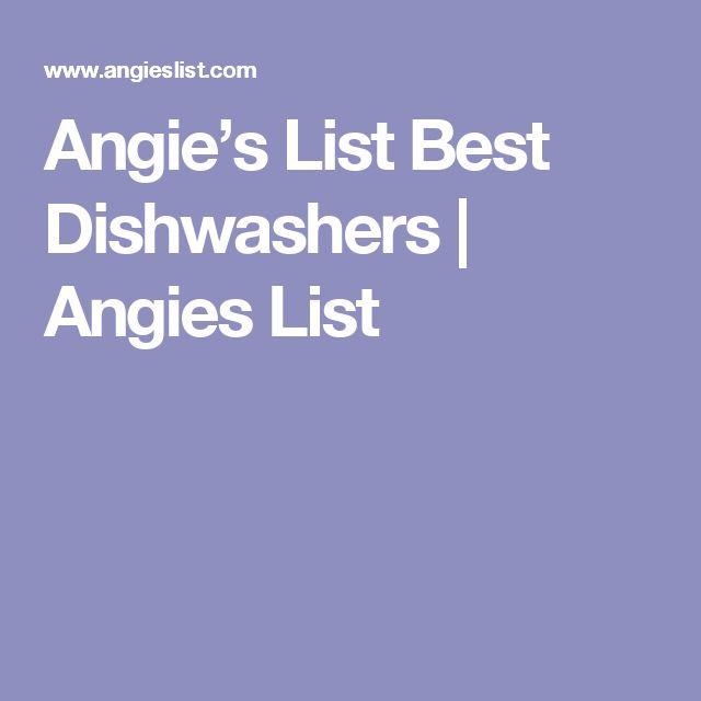 Angie's List Best Dishwashers | Angies List