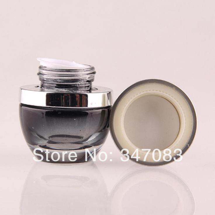 SHG02 30pcs/lot  30g Hight Quality glass with ABS screw cap eye cream jar or container cosmetic  jar