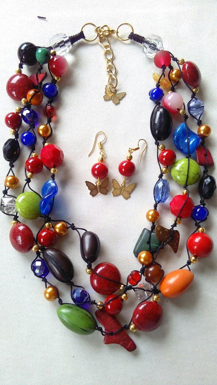 "Collar multicolor ""Adriana"""