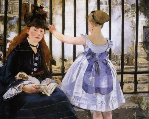 The Railroad by Edouard Manet, Oil painting reproductions