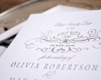 Letterpress Save the Date Simple Save the Date Art by HelloTenfold