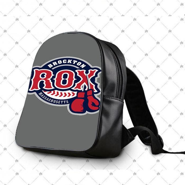 Brocton Rox Baseball Logo Gray School Bag Backpacks