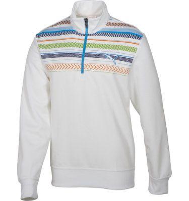 PUMA Men's Golf Print ¼ Zip Popover Shirt