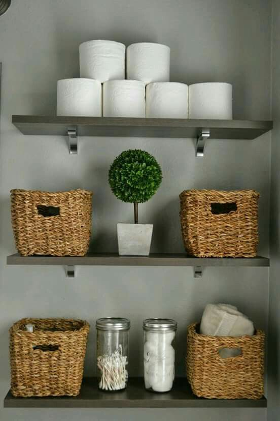 Best 25+ Bathroom storage shelves ideas on Pinterest Decorative - decorating ideas for small bathrooms