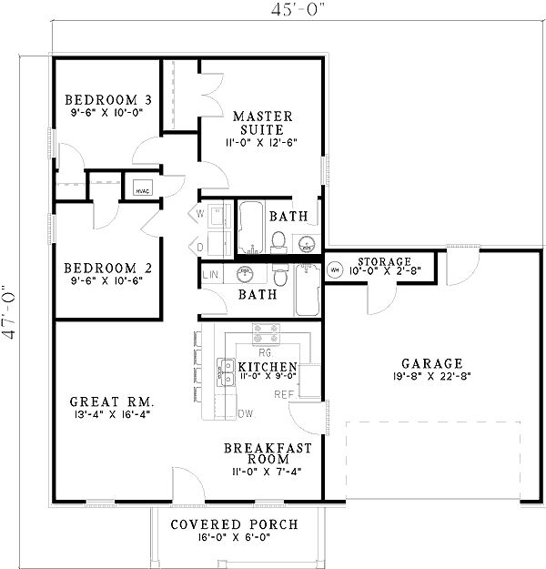 Garage Plans Blueprints 26 X 36 3 Car Traditional: 372 Best Images About Floor Plans On Pinterest