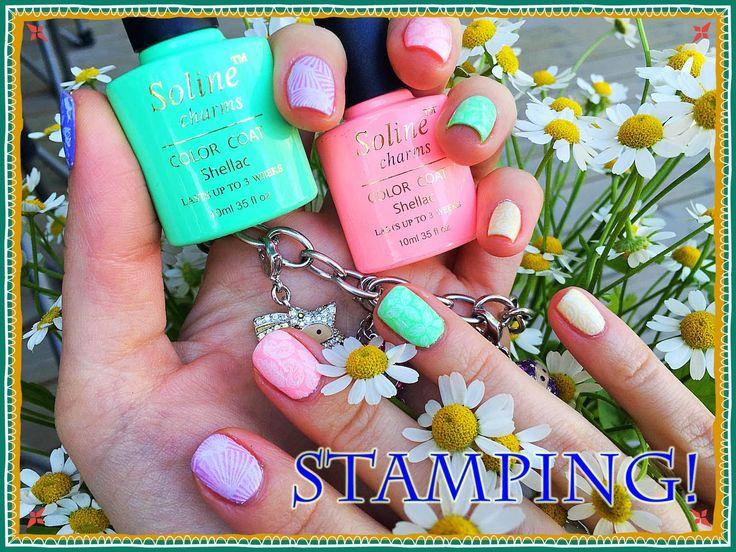 Стемпинг на Гель Лак  с пластиной Mundo de Unas №3/Stamping nail art.