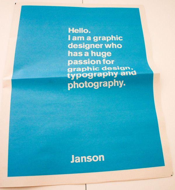 Janson Creative by Leo Janson, via Behance