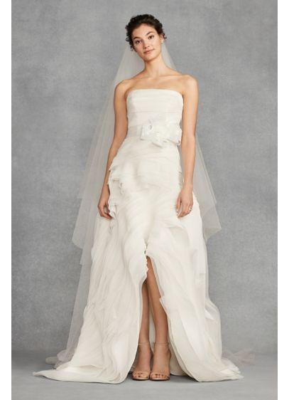 040b5faba2f4 White by Vera Wang High-Low Organza Wedding Dress 4XLVW351422 | My ...