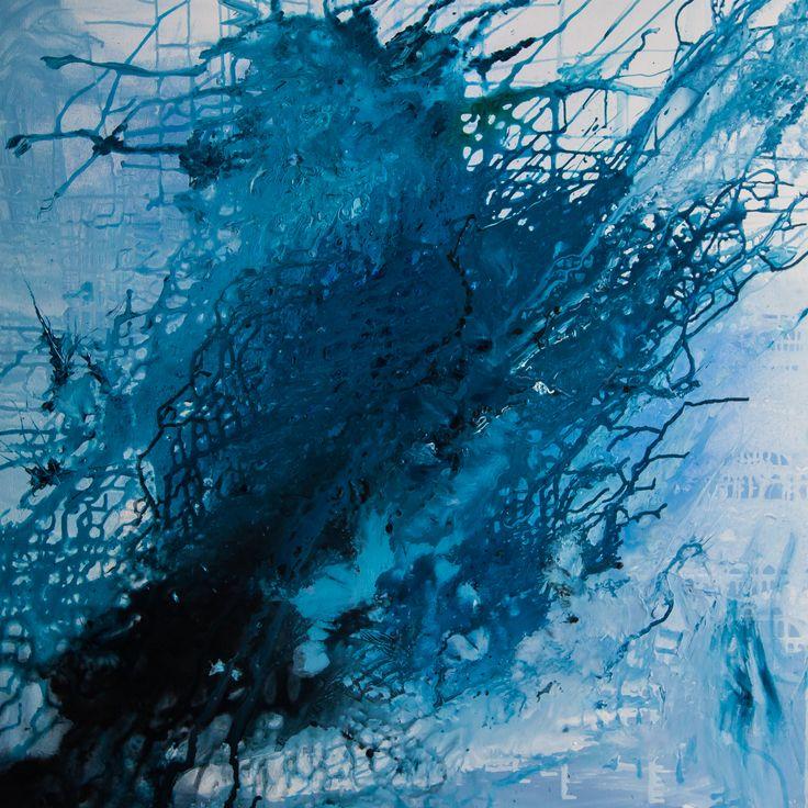 Mój Blue I 100 x 100 akryl na płótnie