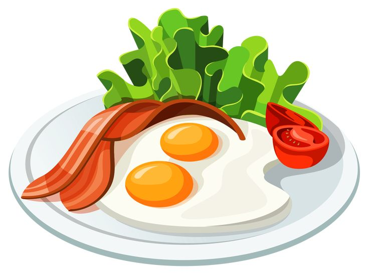 Eggs and Bacon PNG Vector Clipart