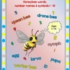 This HANDWRITING package includes the main honeybee words and number names and symbols from 1 – 10     as well as;   different COVER OPTIONS for st...