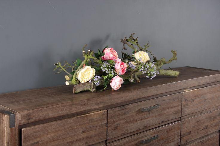 Decoratie Tak Naturel Met Zijde Bloemen Mooi En Makkelijk