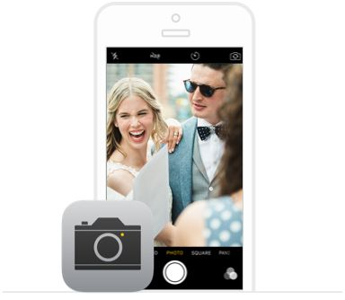 Guests use their normal iPhone or Android cameras to snap photos and videos. Everything is shared automatically as soon as it's taken.