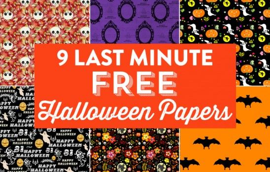 9 Last Minute Free Halloween Papers for craft projects!