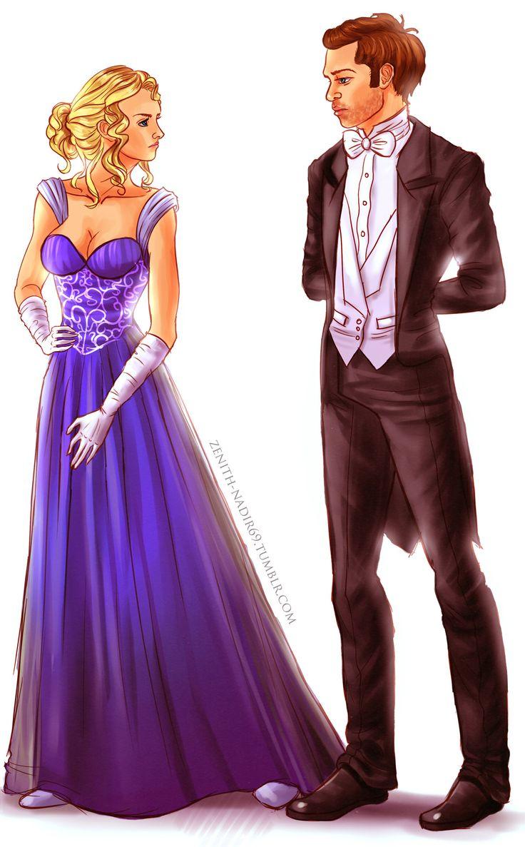 Caroline and Klaus - The vampire diaries (drawing)