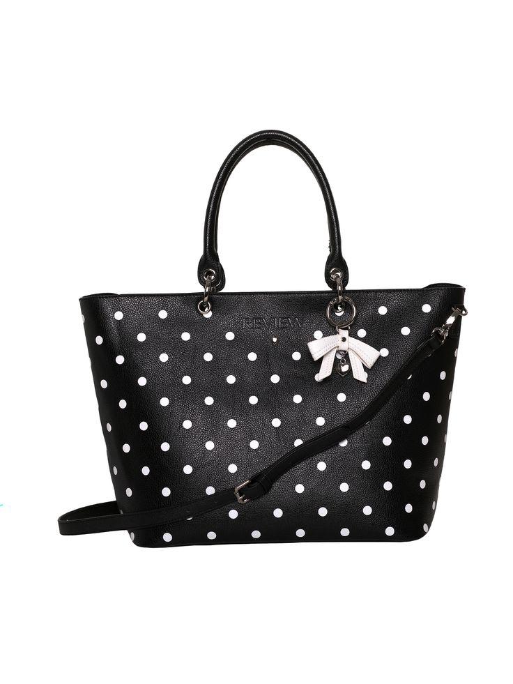 La Belle Tote Bag   Black and Cream   Bag