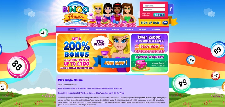 Bingo Please - http://www.bingoplease.com/    With its bright, glossy colours and girly tea party design, Bingo Please is a site that offers much more than the bingo basics. The fun design coupled with extensive bingo features ensures bingo fanatics are captivated for hours. The site offers a range of promotions and bingo games for all players, maintaining its superior design throughout.