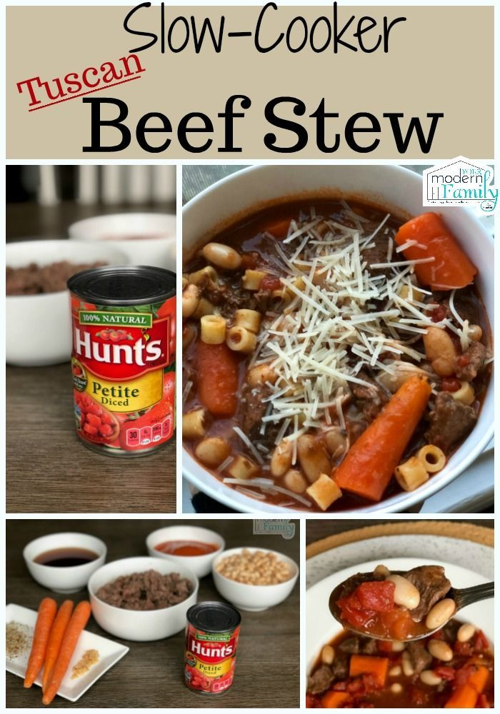 Slow Cooker Tuscan Beef Stew - My husband's grandmother gave me this recipe & it is the BEST recipe ever.   So easy to make & the kids loved it!