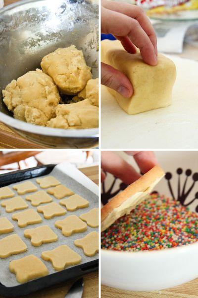 Fairy bread sandwich cookies