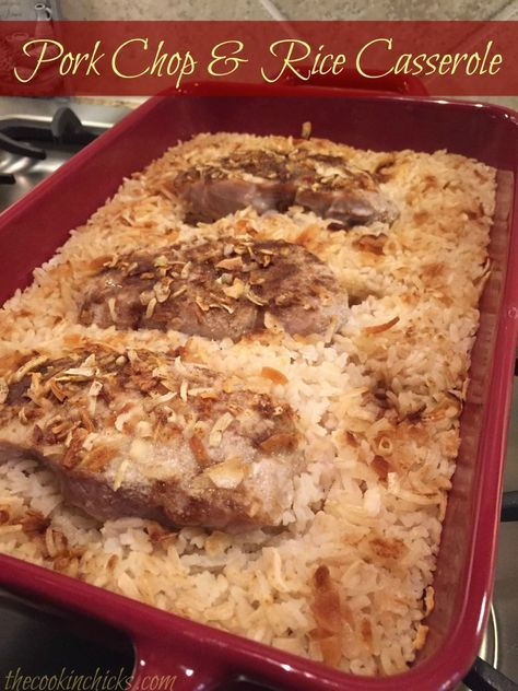 Pork Chop & Rice Casserole
