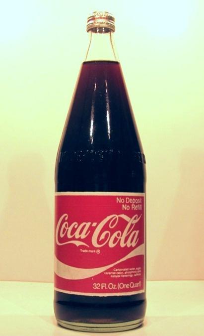 1974 Cone Top Screw Top Glass no returnable bottle Coca-Cola US