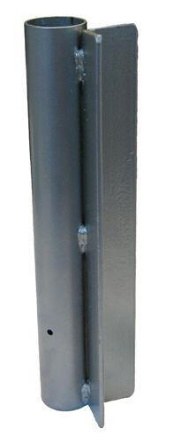 Steel Post Mount Straight Flag Pole Holder Base - Heavy Duty