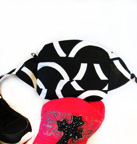 Gold and Black Waist Bag Custom Fanny Pack by Fanny Pax Dia de Los Muertos Day of the Dead Skull Halloween Adjustable