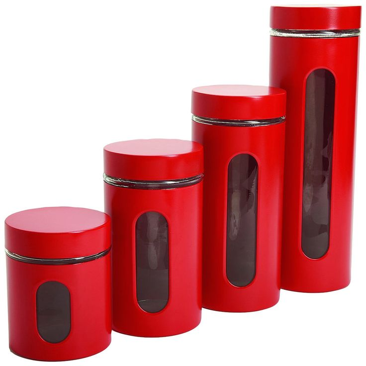 Best 25+ Red Canisters Ideas On Pinterest