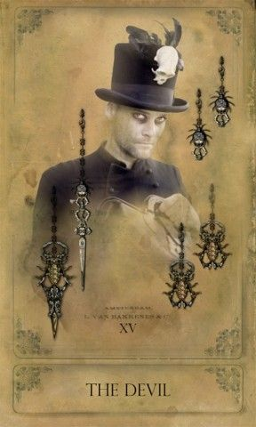 The Sepia Stains Tarot- The Devil