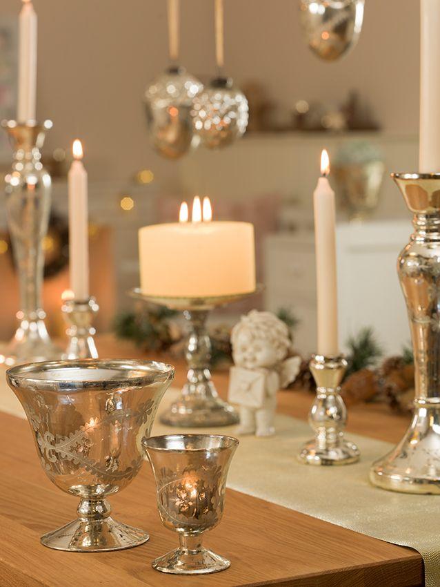 superb einfache dekoration und mobel kerzen der weihnachtsklassiker #1: #Silber küsst #Vanille u2013 diese Melange ist ein echter Weihnachtsklassiker  und kommt am besten