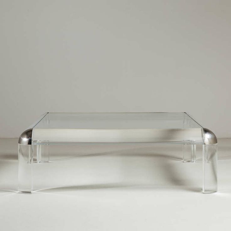 A Karl Springer Lucite And Nickel Coffee Table 1980s | From A Unique  Collection Of Antique