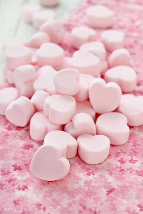 Pastel Pink Candy Hearts