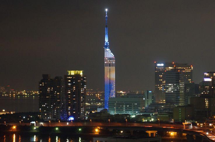 福岡タワーも目立ちますね