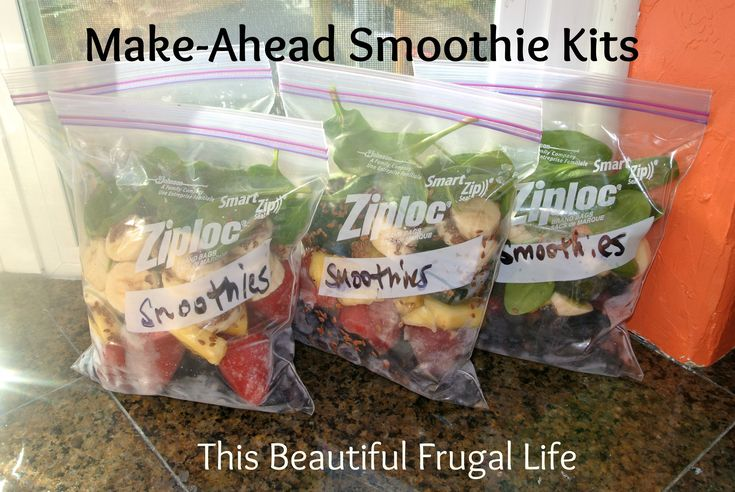 Make-Ahead Smoothie Kits