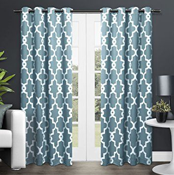 Exclusive Home Ironwork Blackout Thermal Grommet Top Window Curtain Panels, 52-Inch by 84-Inch, Black Pearl, Sold as Set of 2/Pair: Amazon.ca: Home & Kitchen
