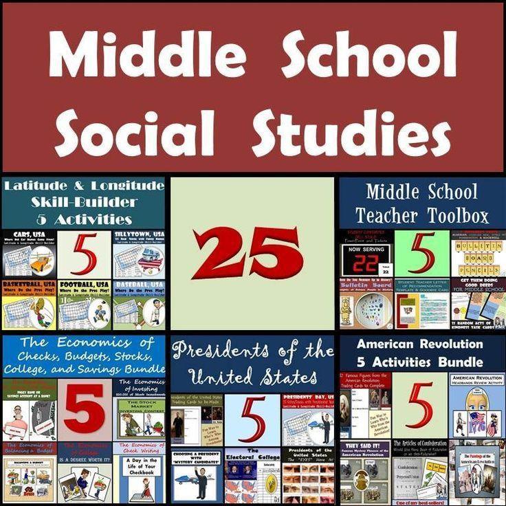 Middle School Social Studies Worksheets : This middle school social studies bundle is providing you