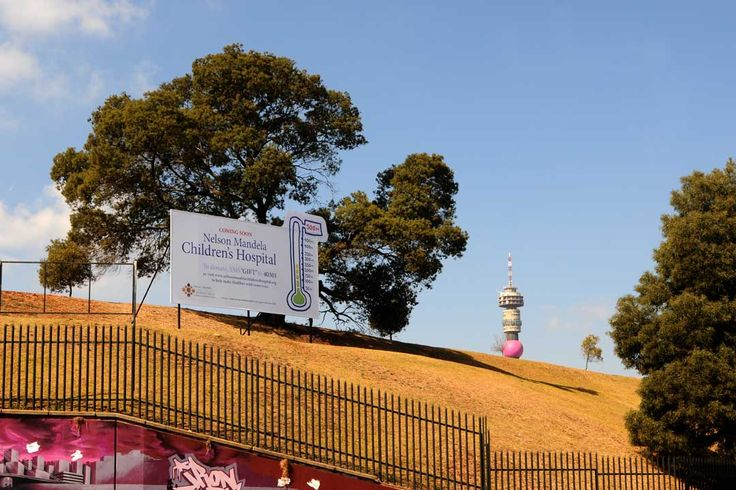 As part of the Nelson Mandela Day celebrations, The Nelson Mandela Children's Hospital Trust has yesterday unveiled a billboard on the actual ground of where the hospital will be built.