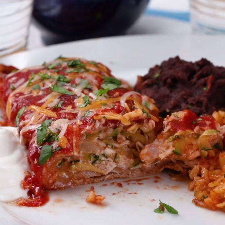 Veggie-Packed Chicken Enchiladas for the Fam