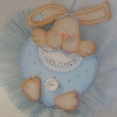 Coccarda nascita coniglietto