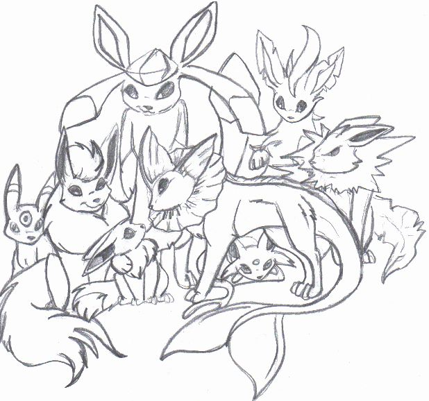 Pokemon Coloring Pages Eevee Evolutions All Tips
