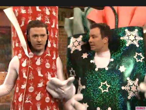 Justin Timberlake and Jimmy Fallon 'Bring it on Down to Wrappinville' on 'SNL'!  So. Darn. Funny.  He sacked his deck!!!