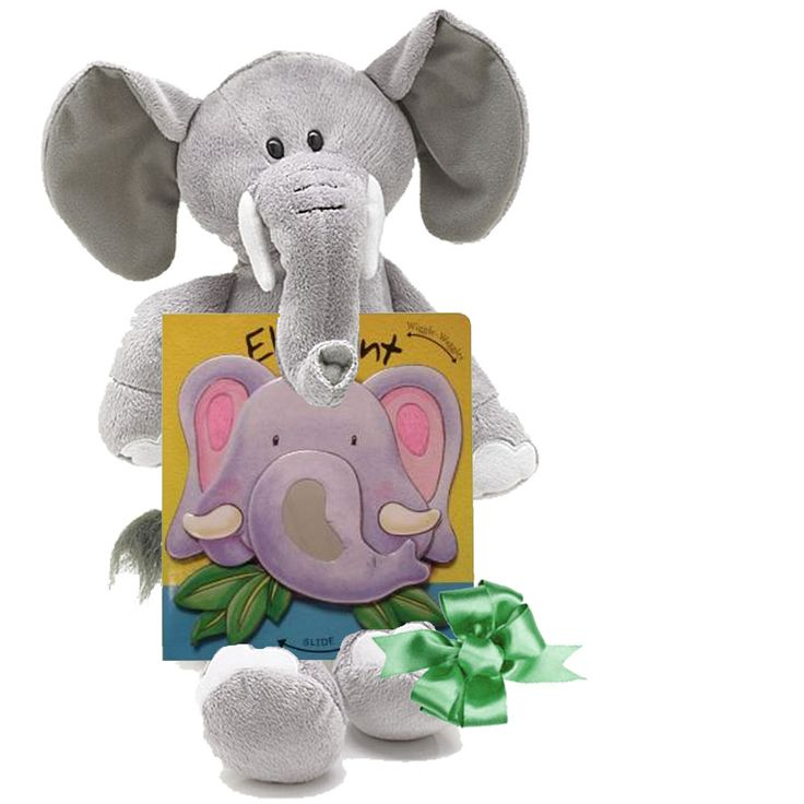 12 best wild about baby images on pinterest baby books gift elephant baby gifts plush and board book gift set negle Images
