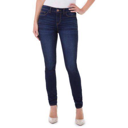Jordache Women's Super Skinny Denim (Blue) Jeggings Available in Regular and Petite, Size: 16