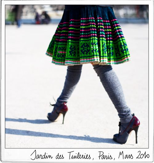love this look.  want a vintage hmong skirt like this desperately.