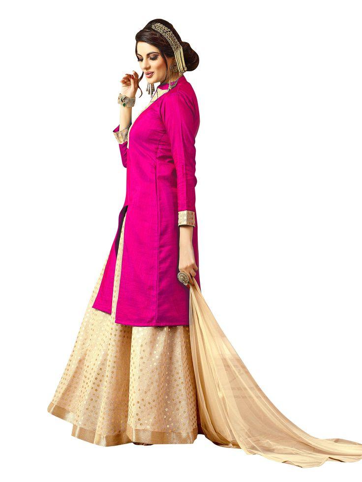 Excited to share the latest addition to my #etsy shop: Bollywood Wedding Indian Pakistani Bridal Lehenga Fuchsia Pink Colored Banarasi Silk Suit Party Lehenga Choli Formal Lehenga for women