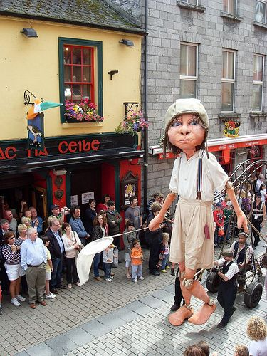 Galway Art Festival, Ireland.. .*What an intriguing parade figure...Disney could learn somethin' ;)