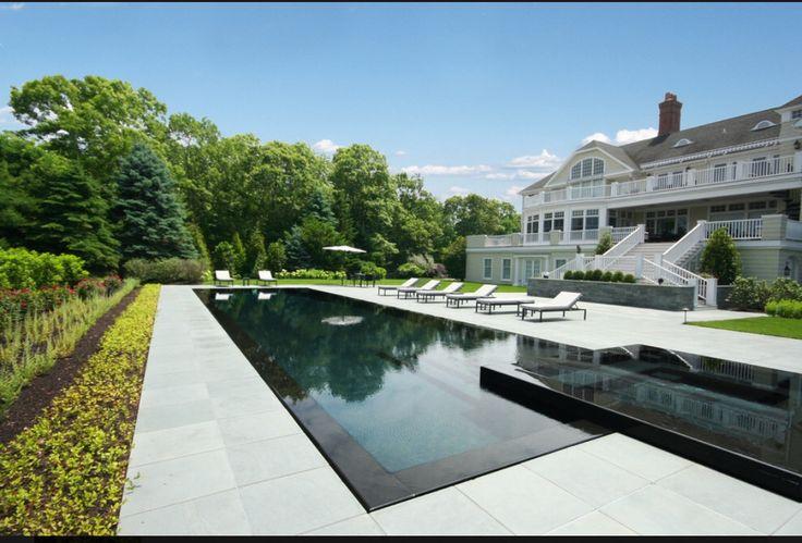 Infinity Edge Pool. J. Tortorella Swimming Pools Swimming Pool Builders