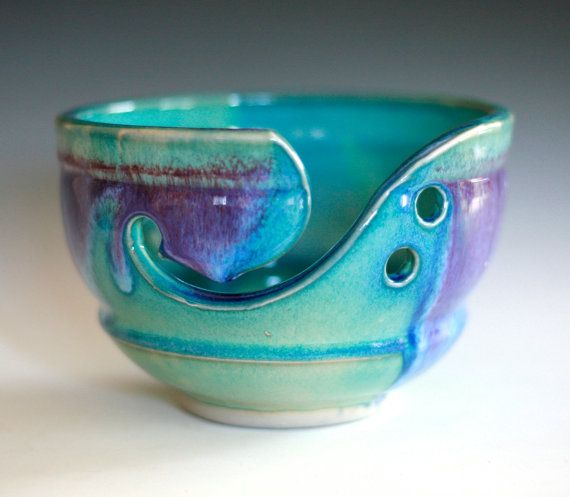 Would be a beautiful addition to my hoard of yarn. Yarn Bowl handmade stoneware potteryhandmade ceramic by ocpottery