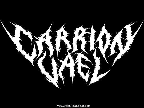 Carrion vael death thrash black metal band logo